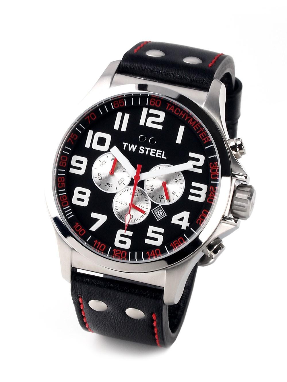 ceas barbatesc tw-steel pilot tw415 cronograf 48mm