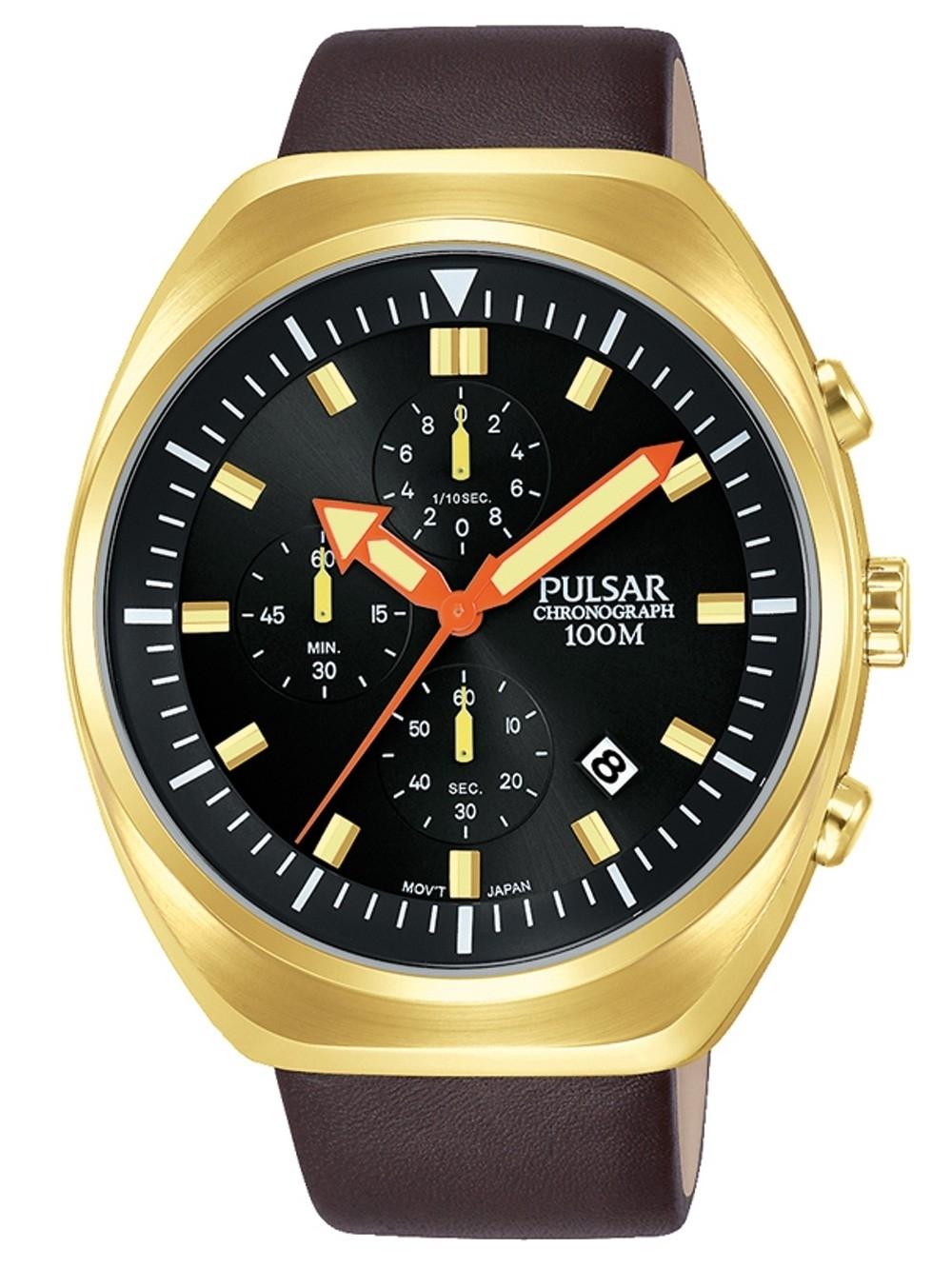 ceas barbatesc pulsar pm3094x1 chrono. 44mm 10atm