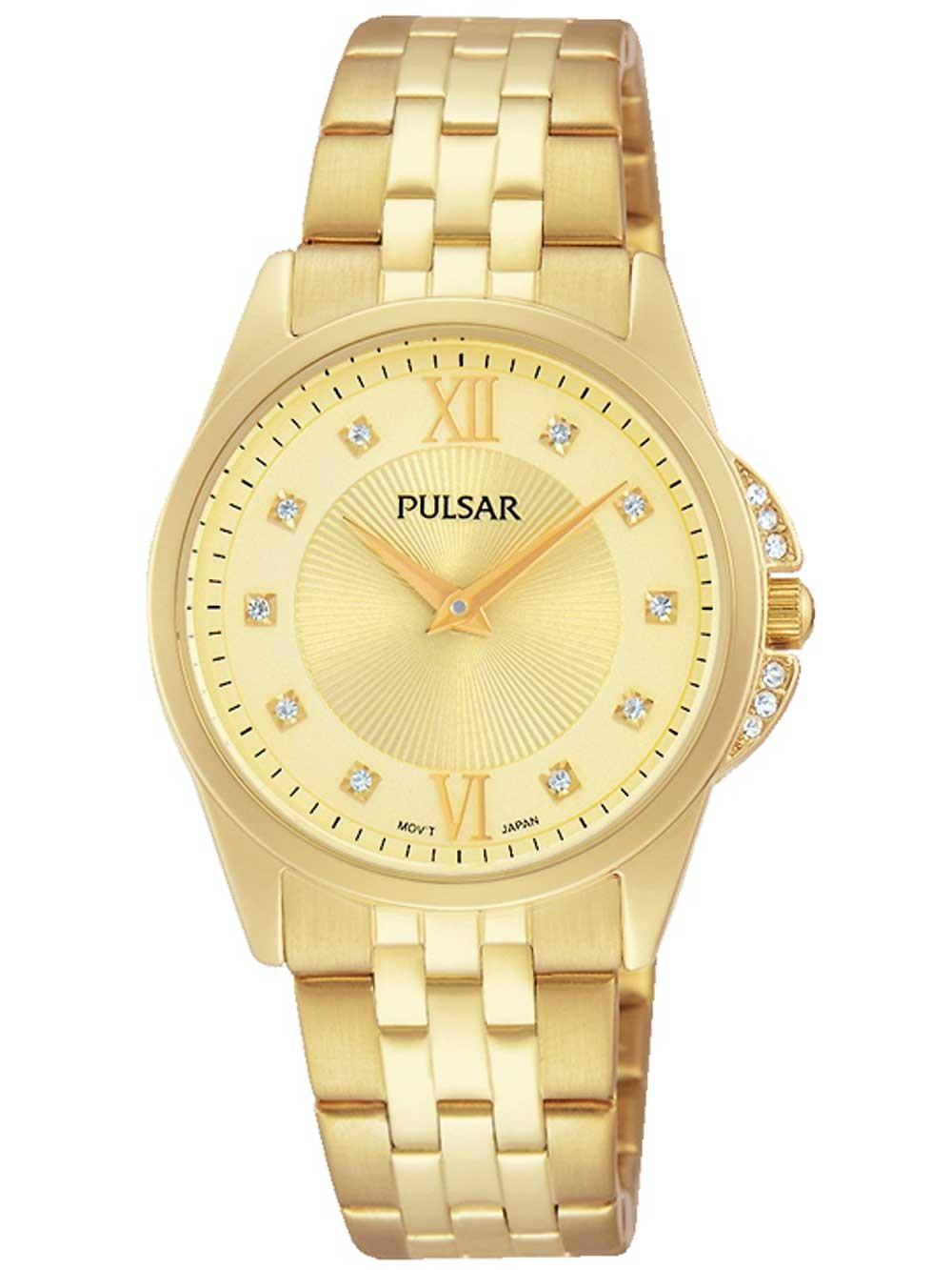 ceas de dama pulsar pm2166x1 swarovski 30mm 3atm