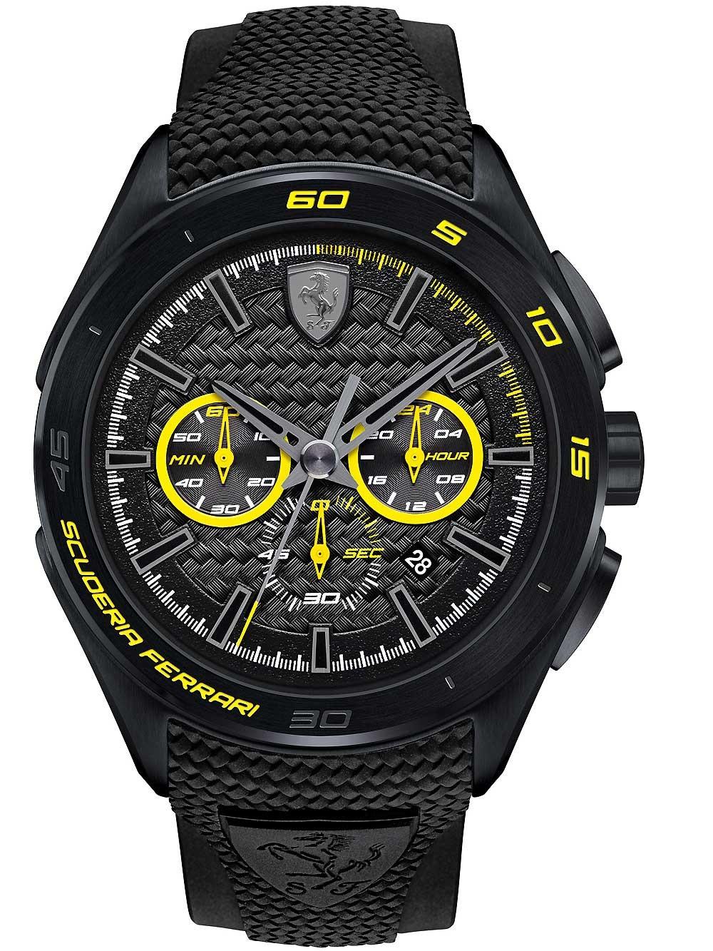 ceas barbatesc scuderia ferrari 0830345 gran premio cronograf 45mm 5atm
