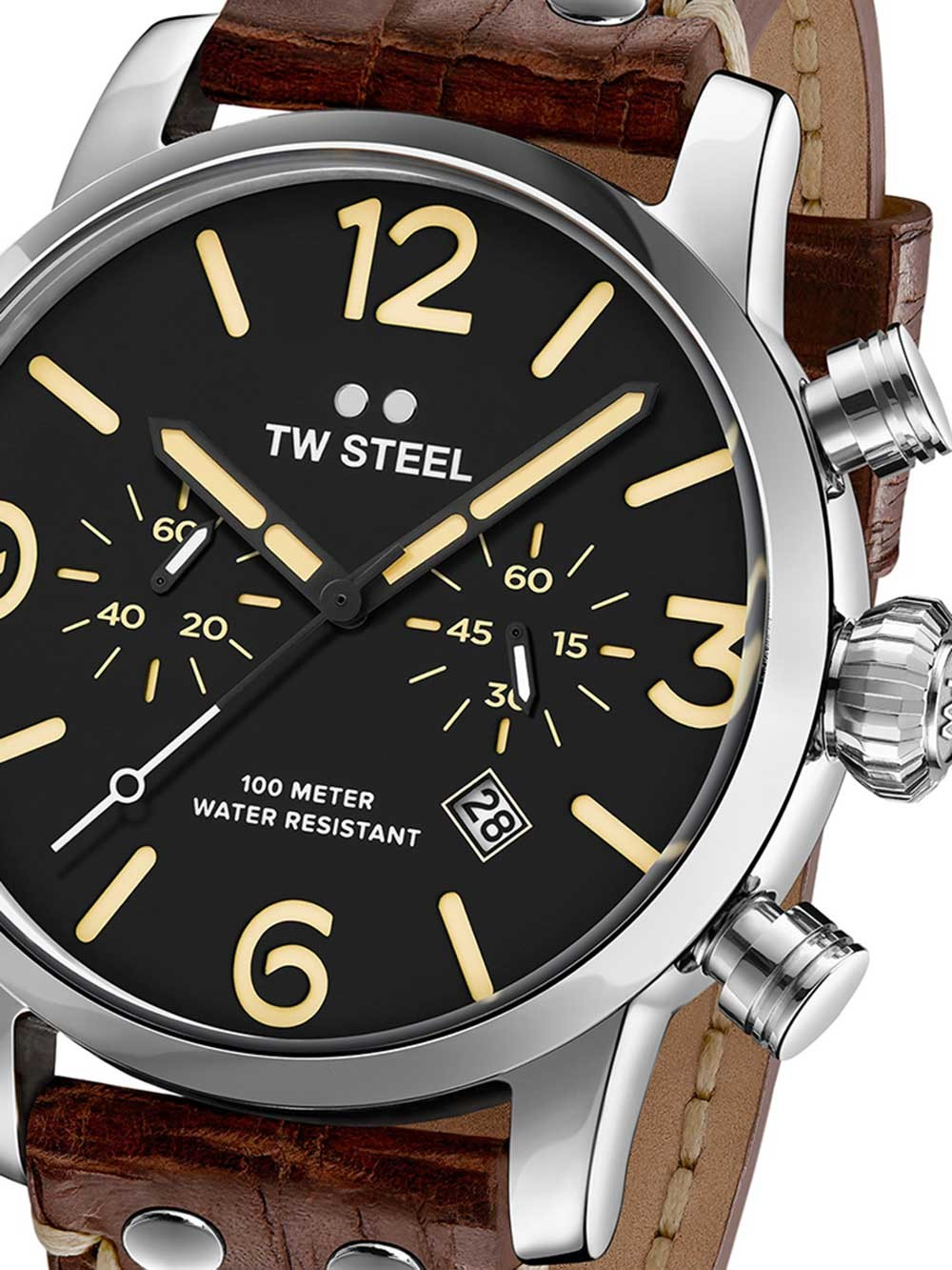 Ceas barbatesc TW-Steel MS3 Maverick Cronograf 45mm 10ATM