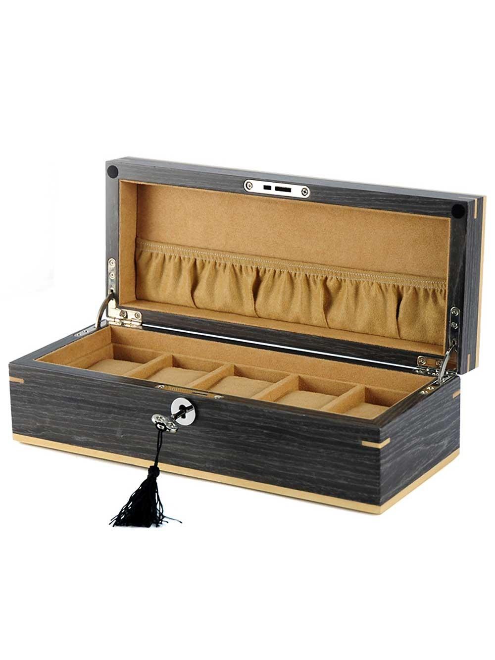 cutie ceasuri rothenschild [5] ginko lemn natural rs-2320-5g