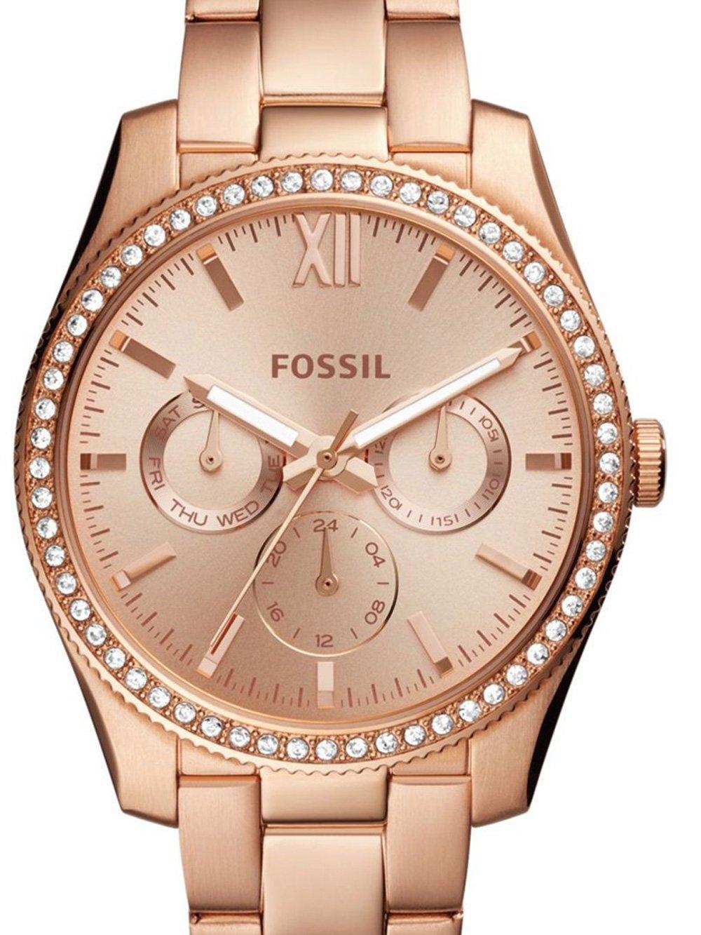 watches chrono12 fossil es4315 scarlette damen 38mm 5atm. Black Bedroom Furniture Sets. Home Design Ideas