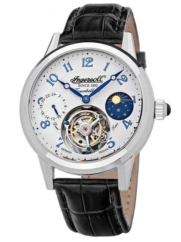 ceas barbatesc ingersoll pierce in5305wh tourbillon 45 mm
