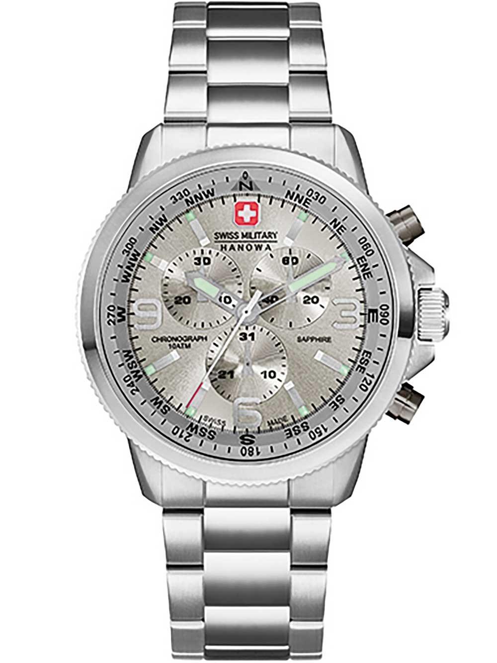 ceas barbatesc swiss military hanowa 6-5250.04.009 arrow chrono 10atm 46mm