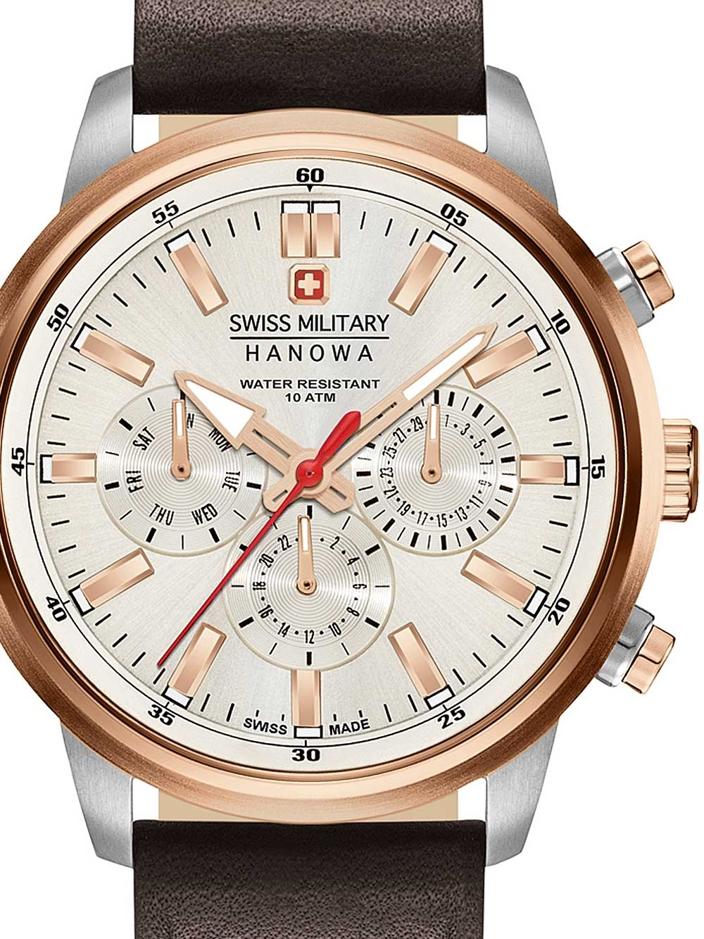 ceas barbatesc swiss military hanowa 06-4285.12.001 horizon 42mm 10atm