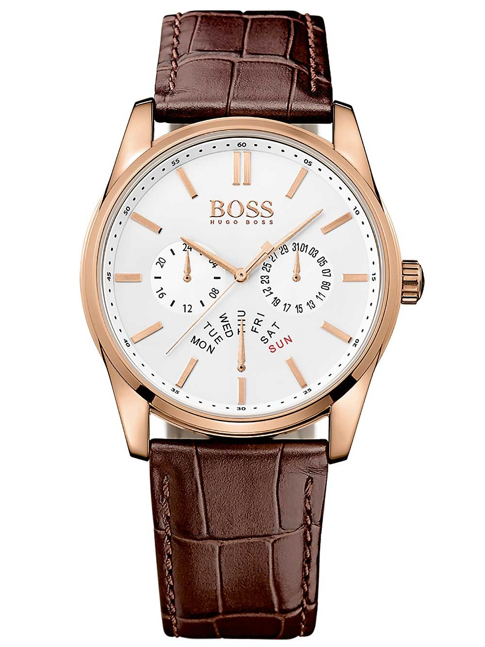 ceas barbatesc hugo boss 1513125 heritage functii multiple 43mm 3atm