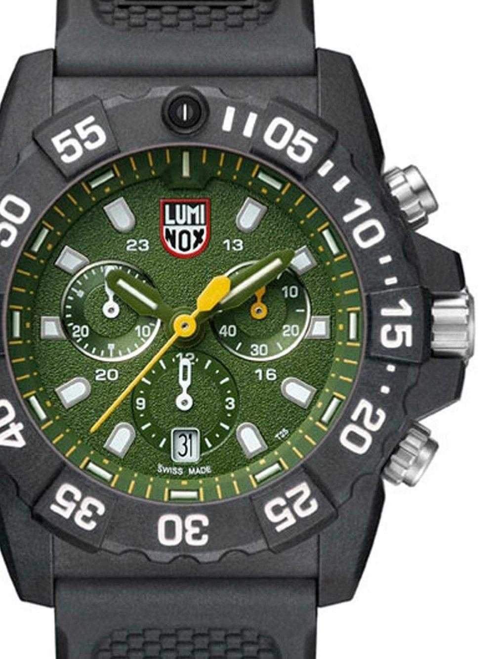 ceas barbatesc luminox xs.3597 navy seal chrono. 45mm 20atm