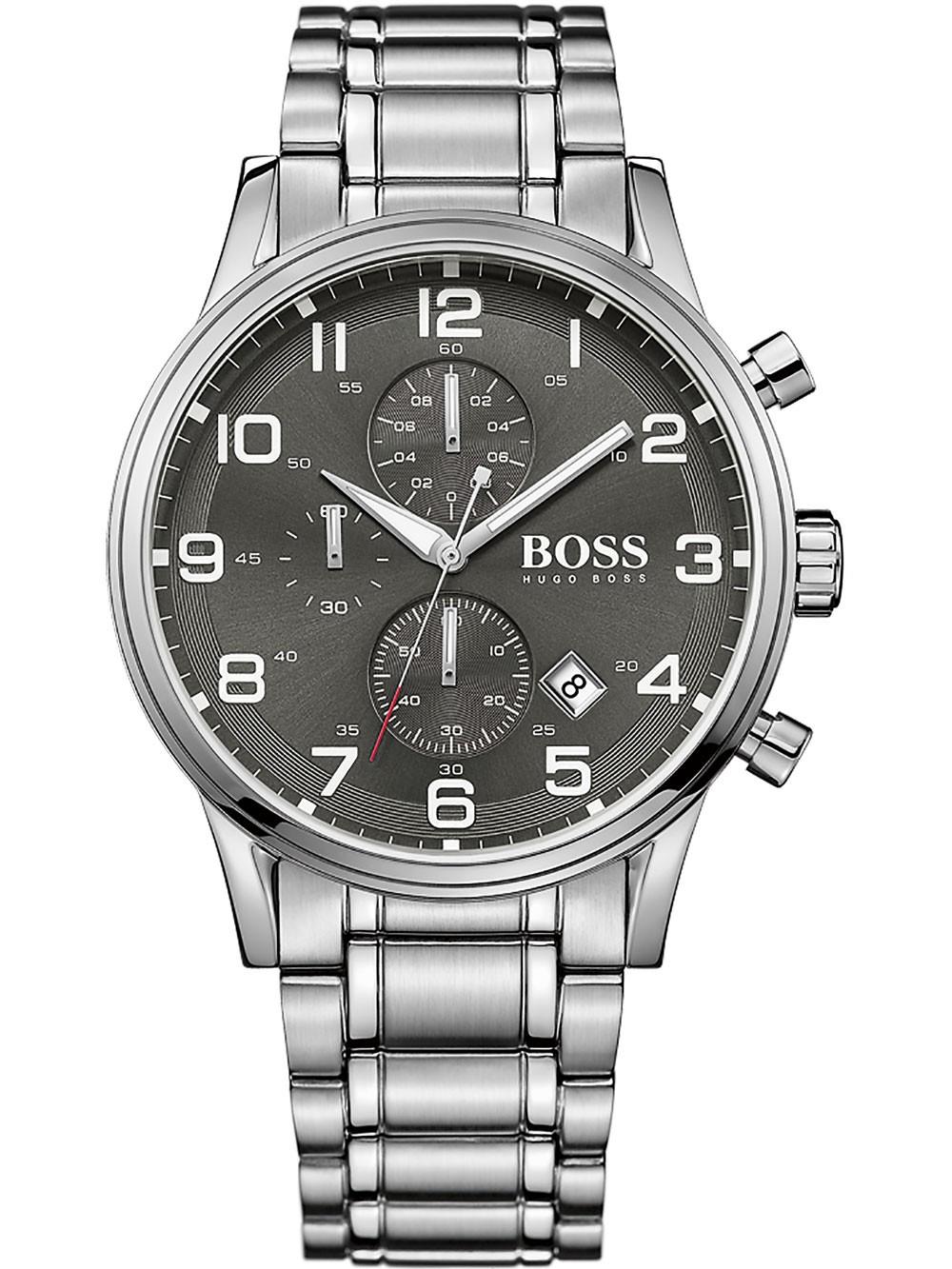 ceas barbatesc hugo boss 1513181 aeroliner chrono 44mm 5atm