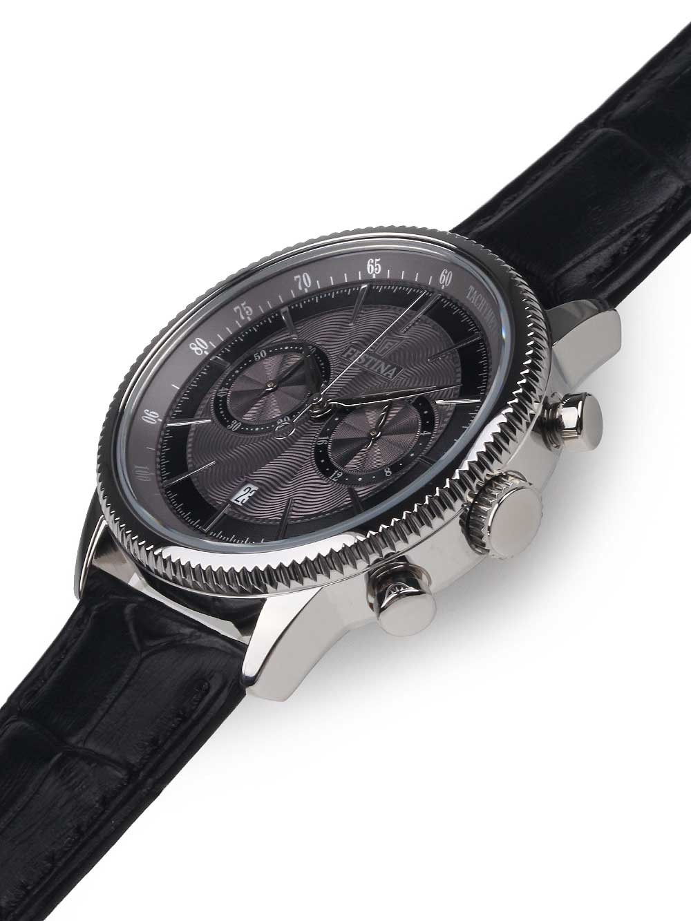 watches chrono12 festina f16893 5 chronograph herren 41mm 5atm. Black Bedroom Furniture Sets. Home Design Ideas