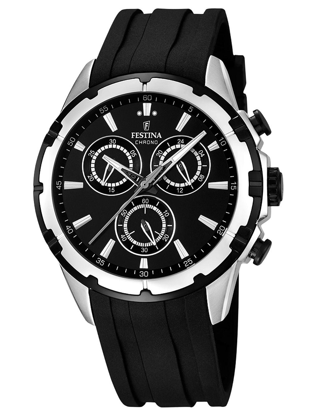 watches chrono12 festina f16838 2 chronograph 44mm 10atm. Black Bedroom Furniture Sets. Home Design Ideas
