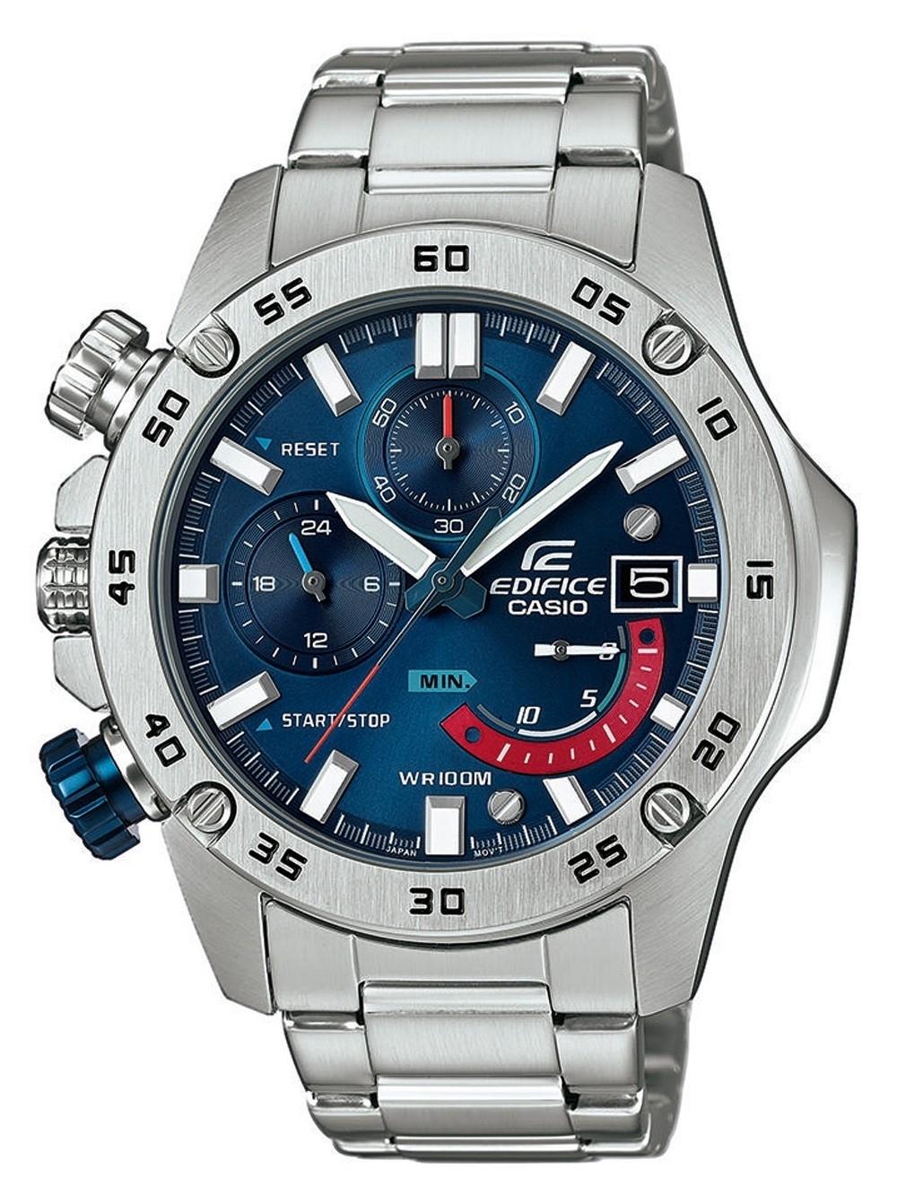 ceas barbatesc casio efr-558d-2avuef edifice chrono. 46mm 10atm