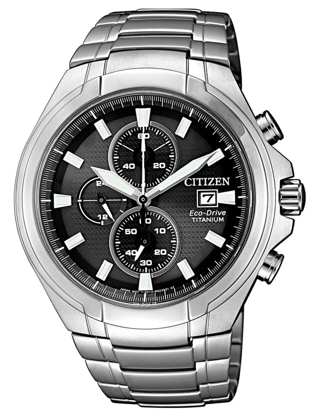 ceas barbatesc citizen ca0700-86e eco-drive super-titanium chrono 42mm 10atm