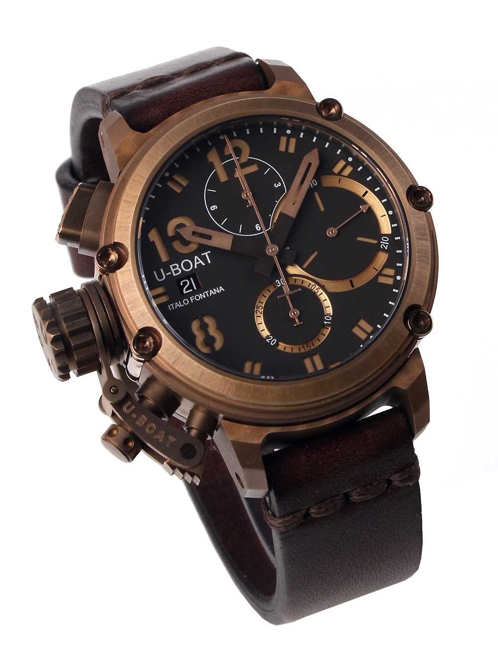 ceas barbatesc u-boat 8014 chimera chrono 43mm 10atm