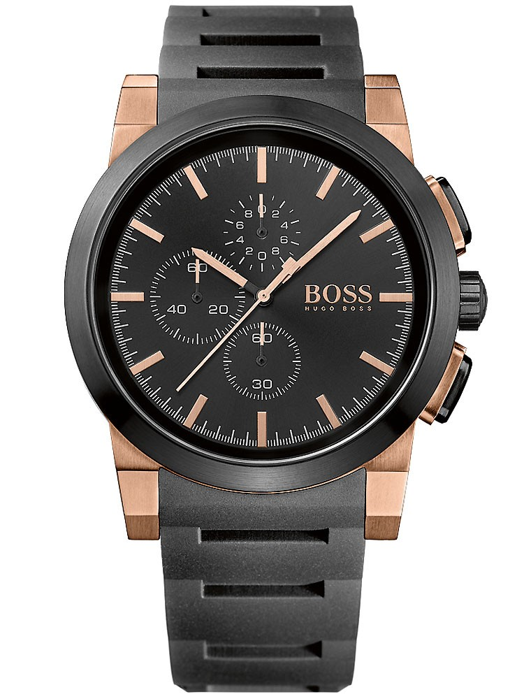 ceas barbatesc boss black neo chrono 1513030 46mm 5atm