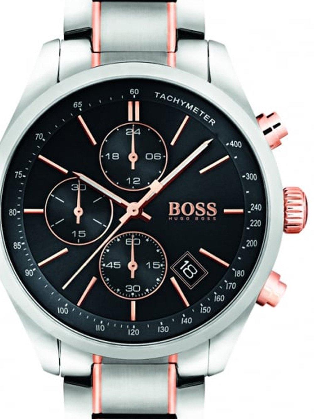 ceas barbatesc boss 1513473 grand prix chrono 44mm 3atm