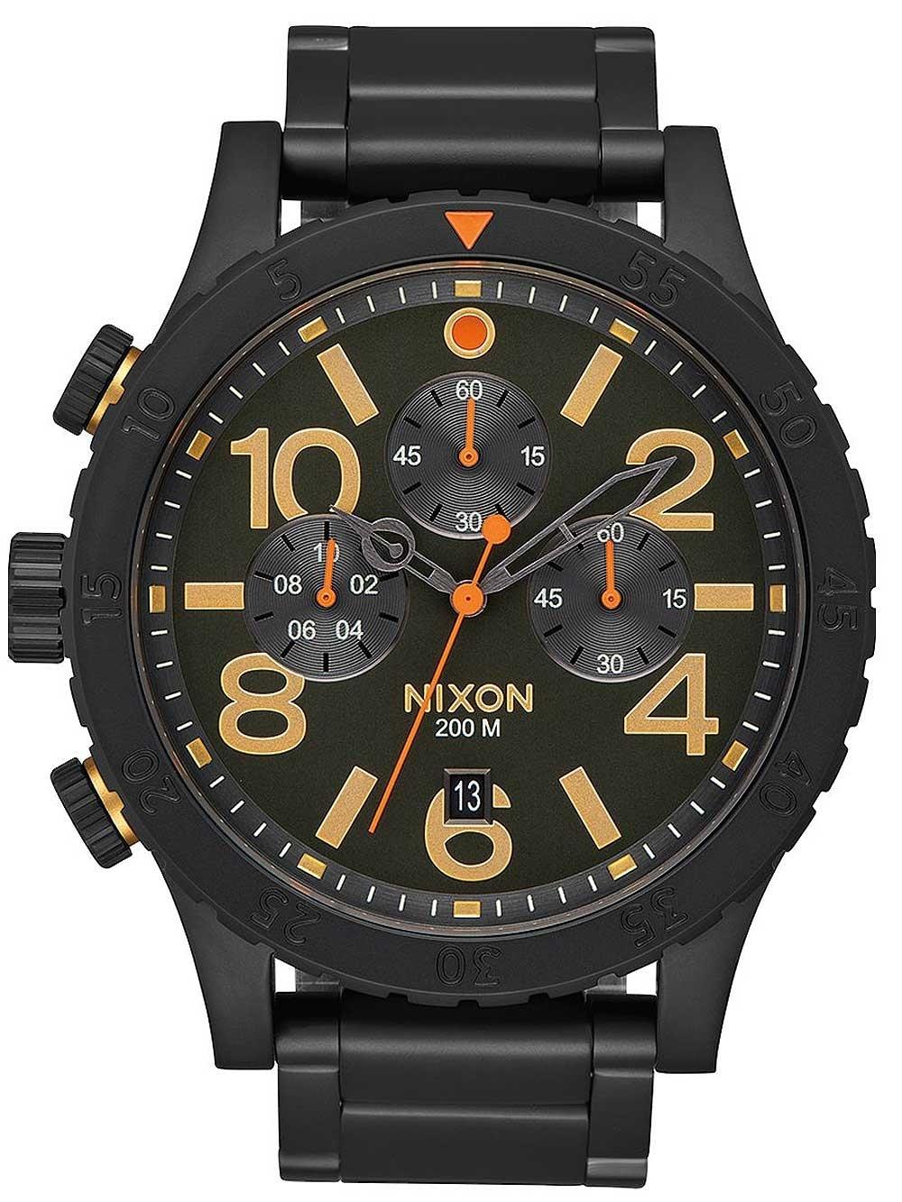 ceas barbatesc nixon a346-1032 48-20 chrono 48mm 20atm