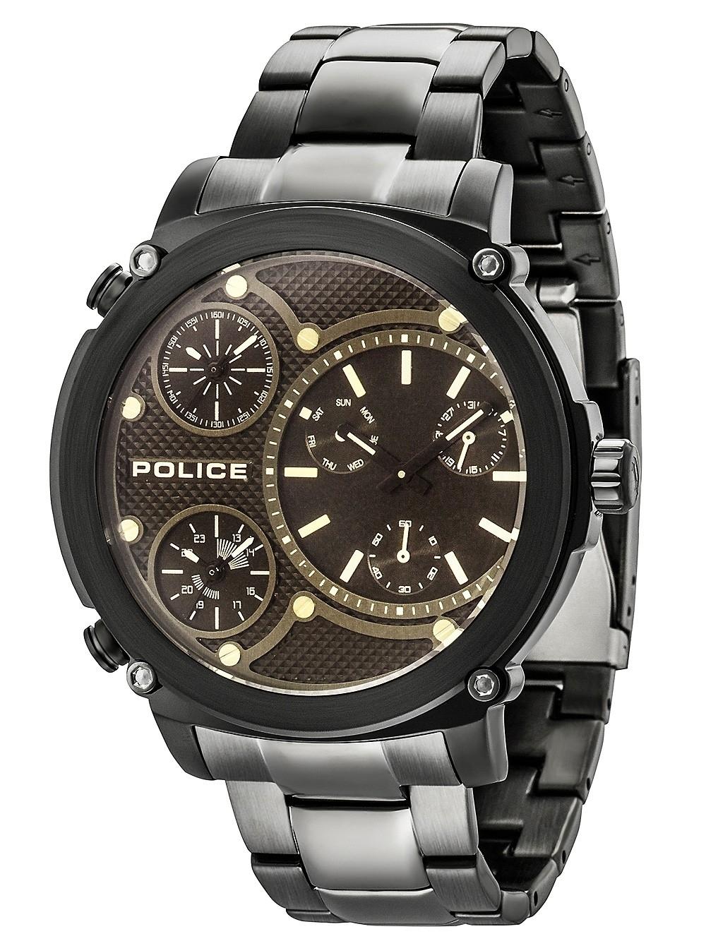 ceas barbatesc police pl14830jsb.02m titan multifunctii 52mm 5atm