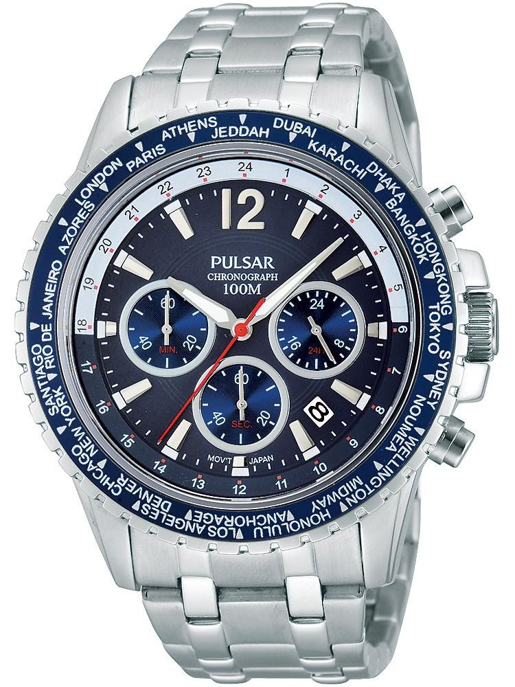 ceas barbatesc pulsar pt3579x1 sport cronograf 100m 45mm