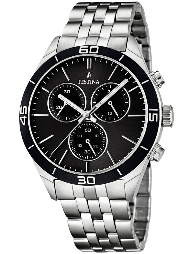 watches chrono12 festina f16762 4 herren chronograph 5 atm 43 mm. Black Bedroom Furniture Sets. Home Design Ideas