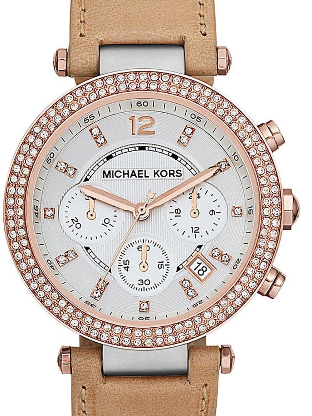 ceas de dama michael kors mk5633 parker chrono. 38mm 10atm