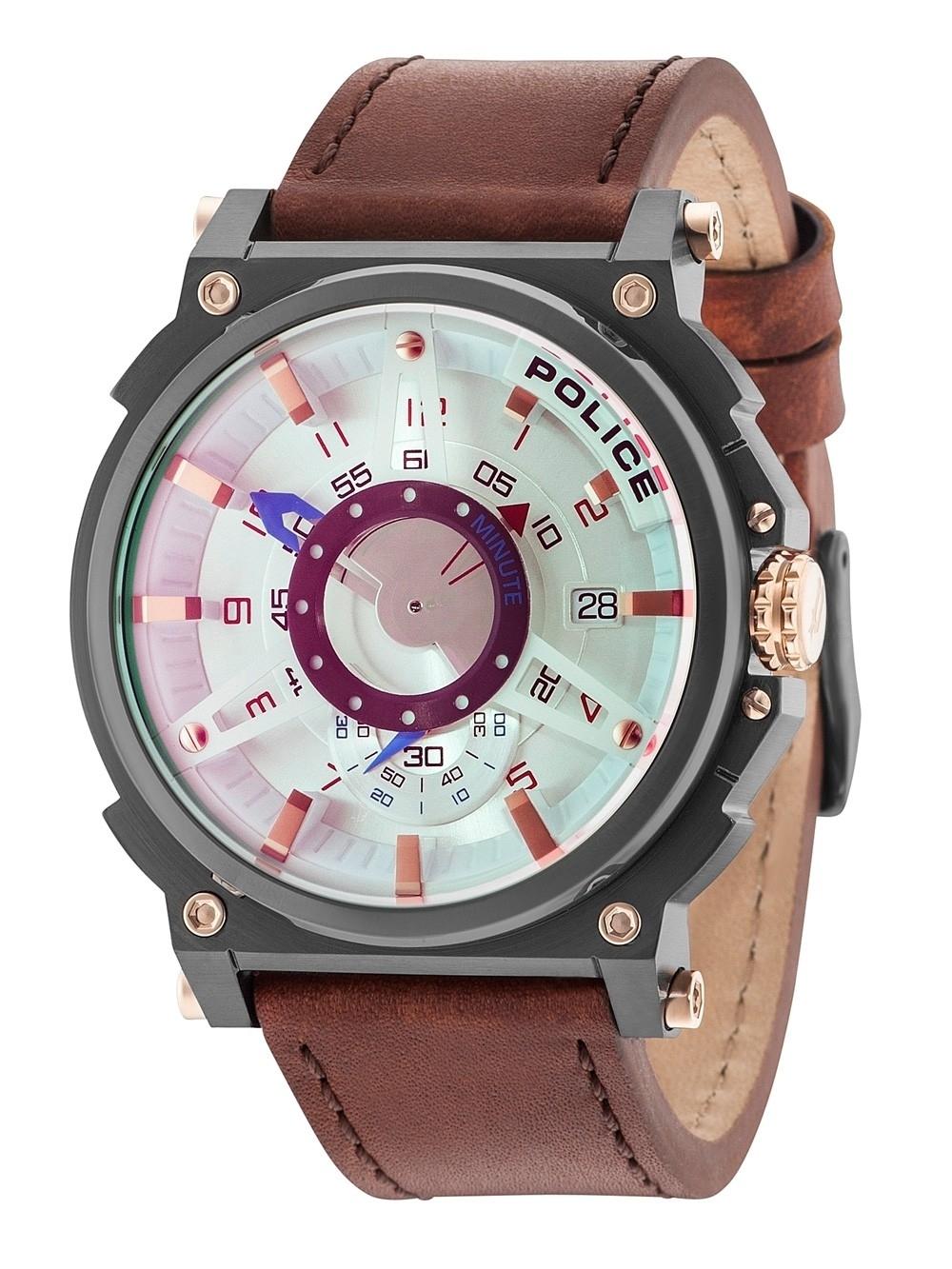 ceas barbatesc police pl15048jsu/04 compass 50mm 5atm
