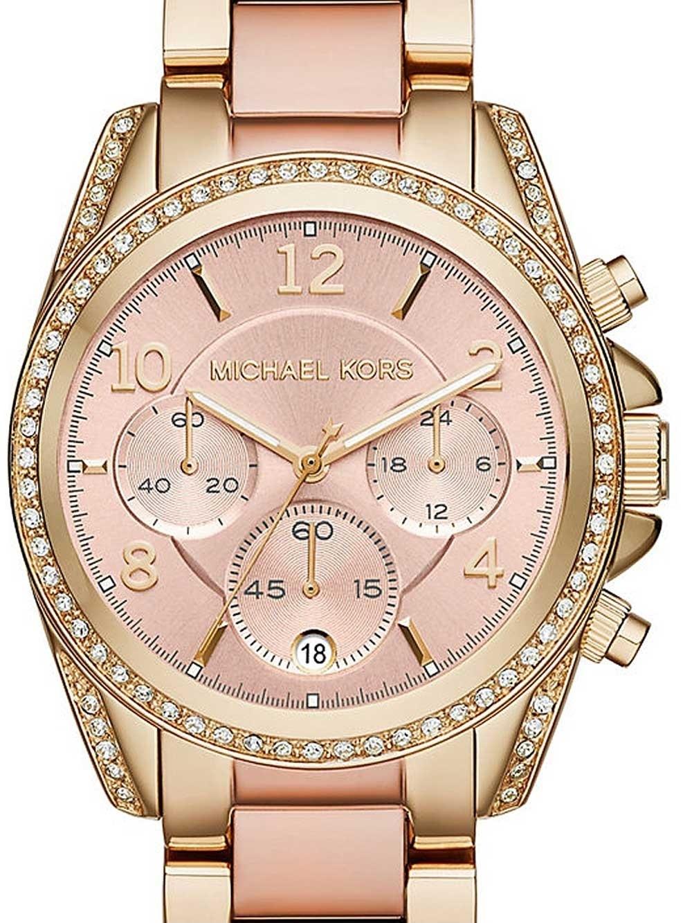 ceas de dama michael kors mk6316 blair chrono 39mm 10atm