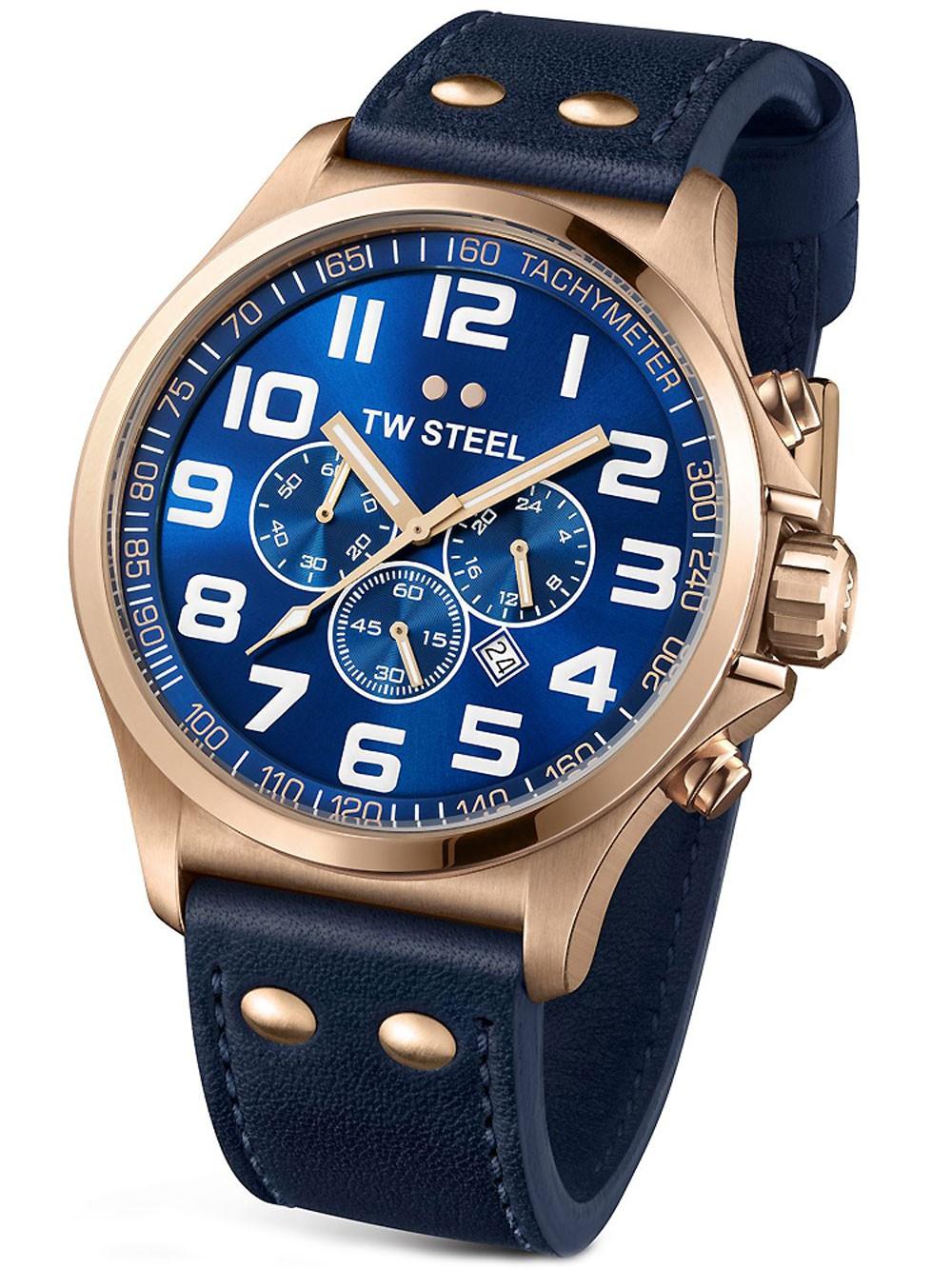 ceas barbatesc tw-steel tw406 pilot cronograf 45mm 5atm