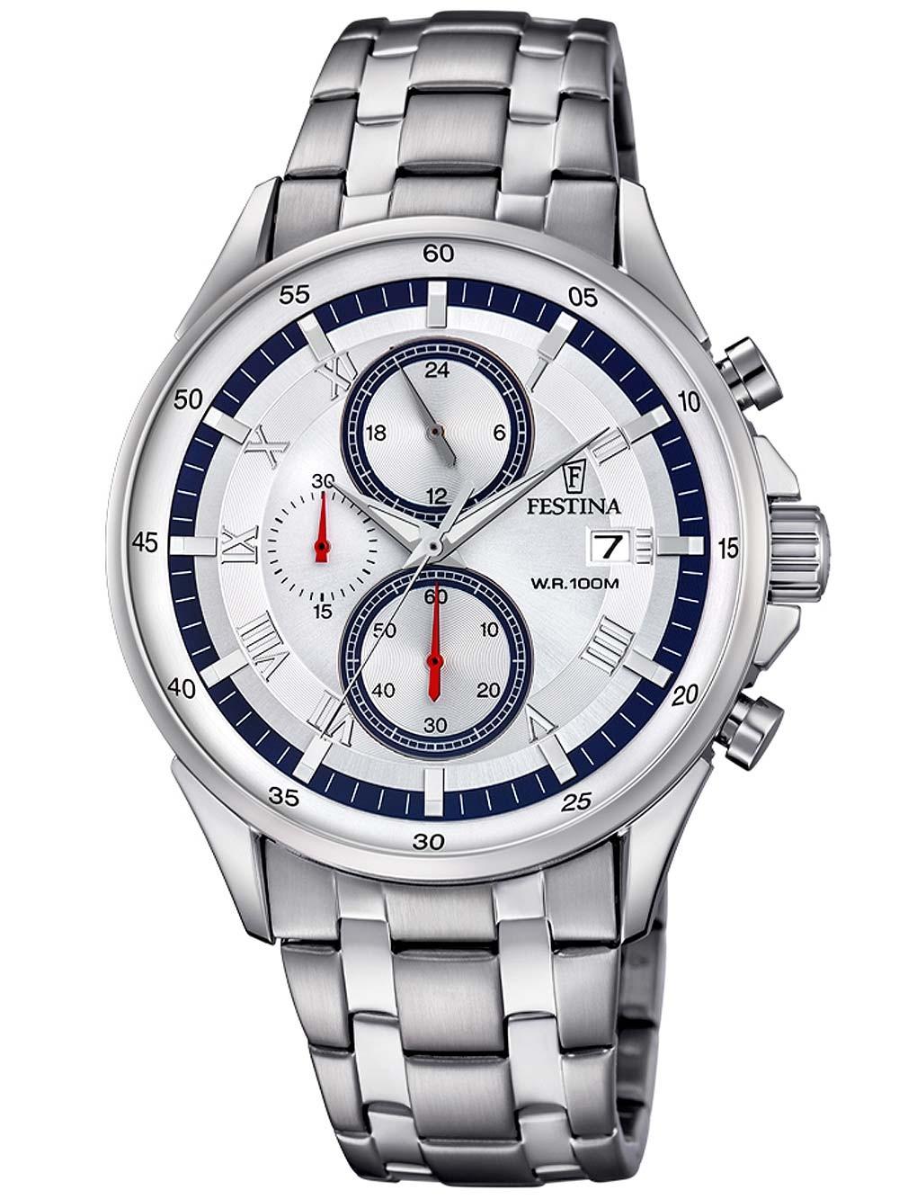 ceas barbatesc festina f6853/1 sport cronograf 44mm 10atm