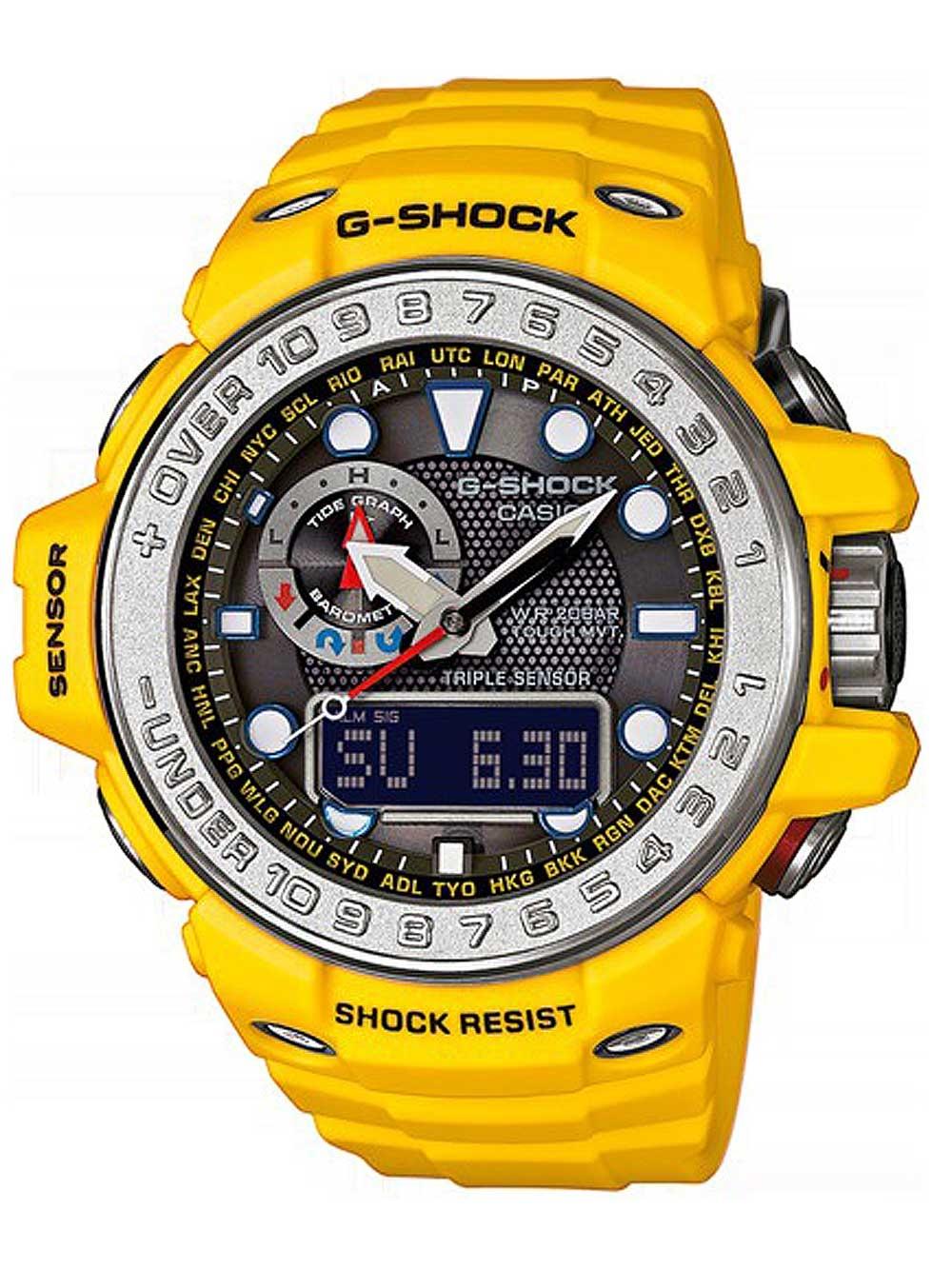 ceas barbatesc casio gwn-1000h-9aer g-shock radio solar 55mm 20atm