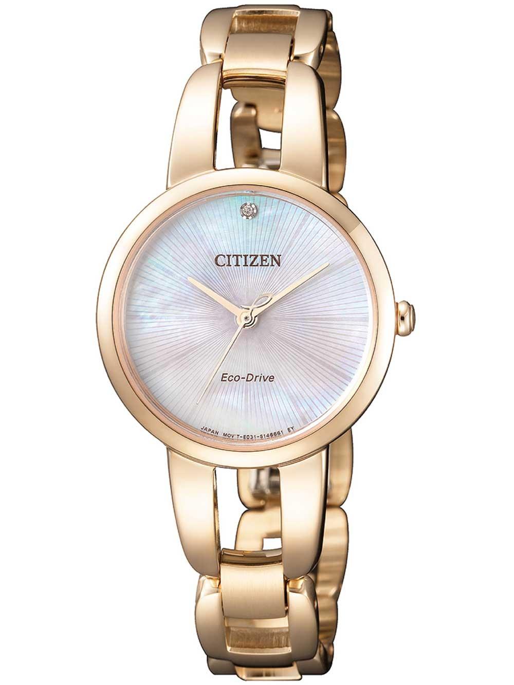 ceas de dama citizen em0433-87d eco-drive 27mm 5atm