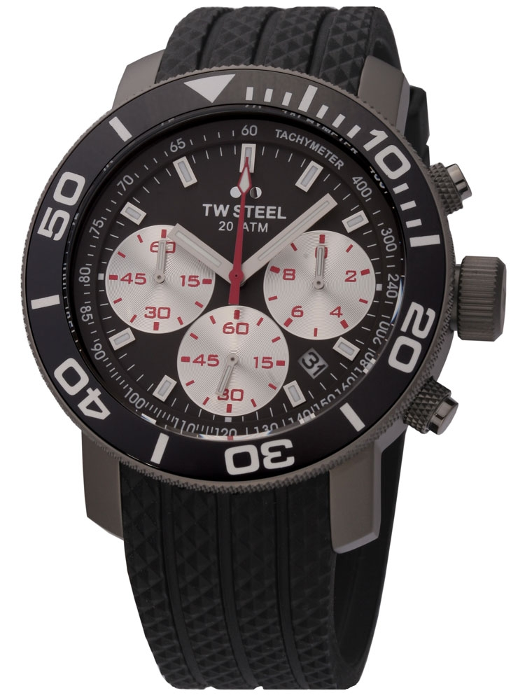 montres chrono12 tw steel tw704 new grandeur diver 45 mm chronograph. Black Bedroom Furniture Sets. Home Design Ideas