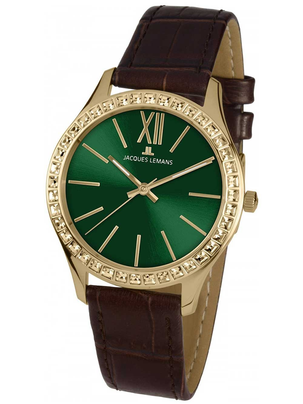 ceas de dama jacques lemans 1-1841zb rome 37mm 10atm