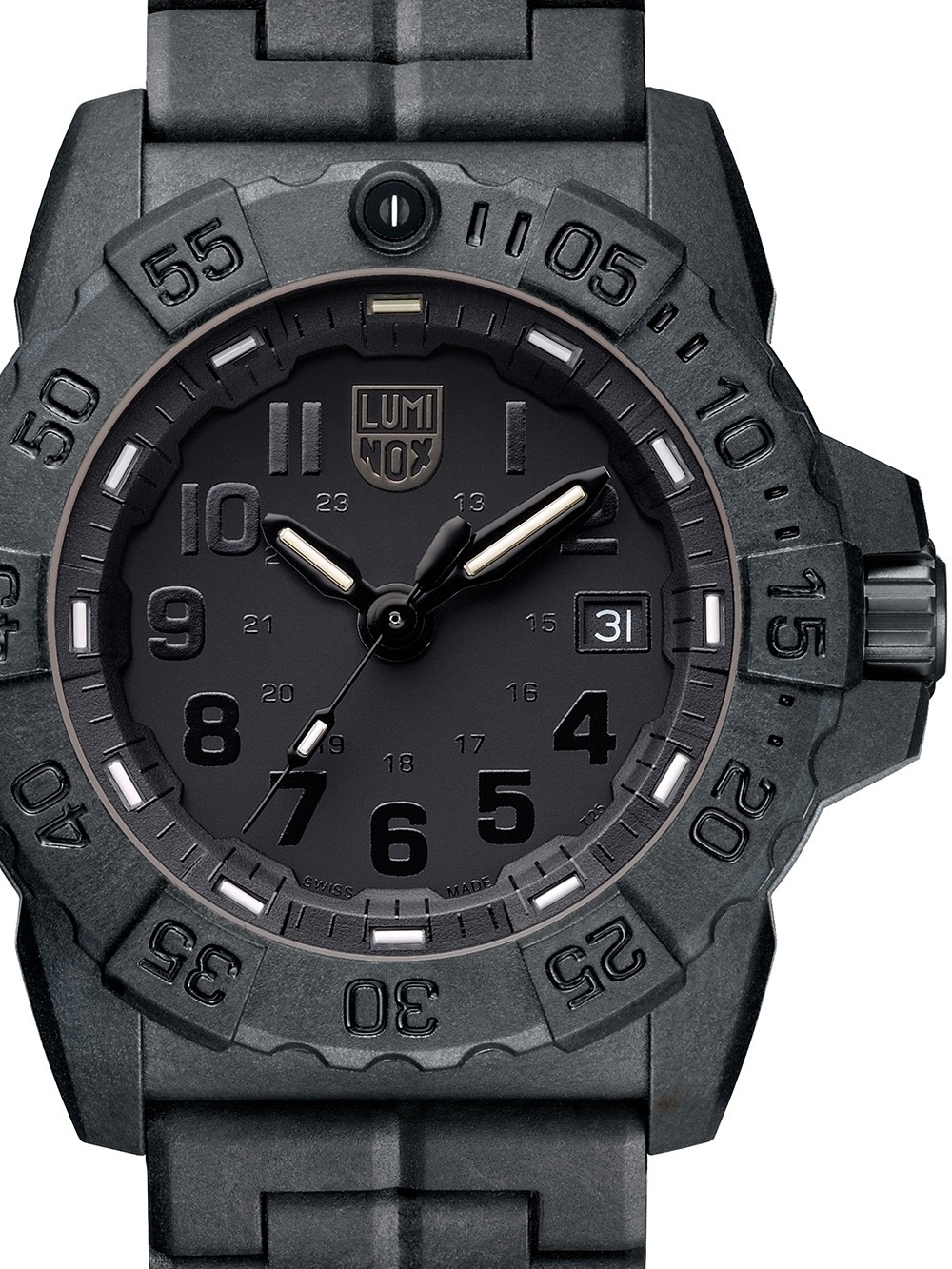 ceas barbatesc luminox xs.3502.bo navy seal 45mm 20atm