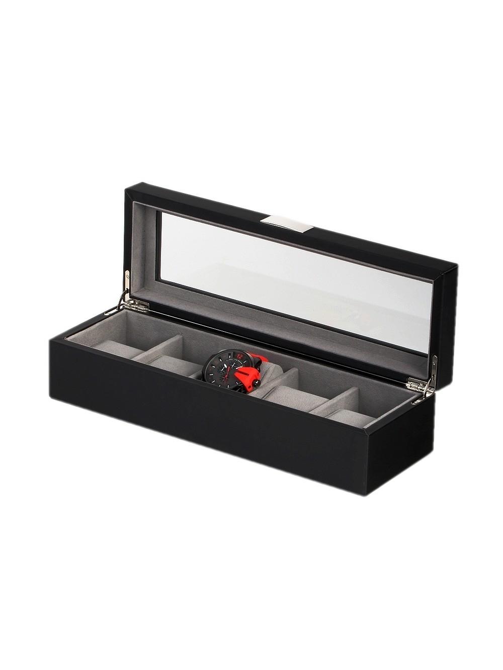 rothenschild uhrenbox rs-3490-5bl für 5 uhren