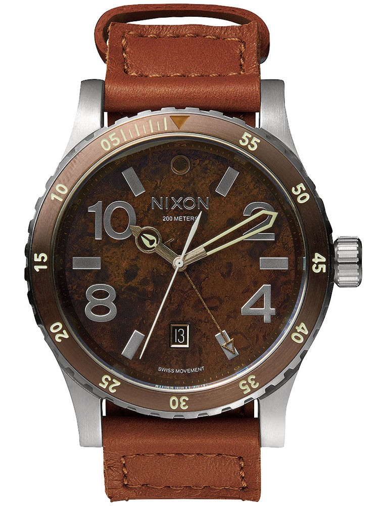 ceas barbatesc nixon a269-1958 diplomat dark copper saddle 45mm 20atm