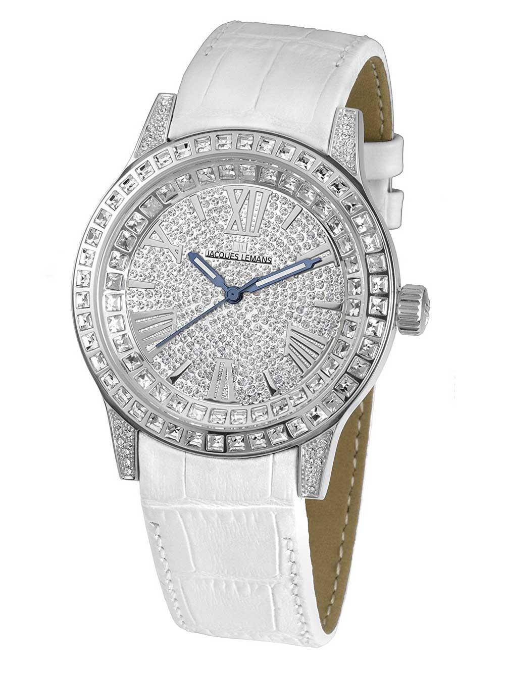 ceas de dama jacques lemans 1-1798a porto 42mm 10atm