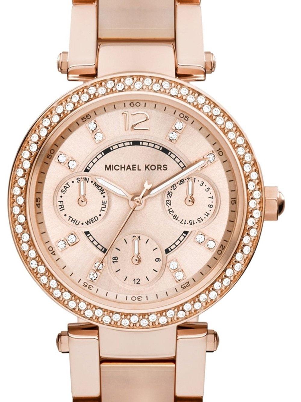 ceas de dama michael kors mk6110 mini parker 33mm 10atm