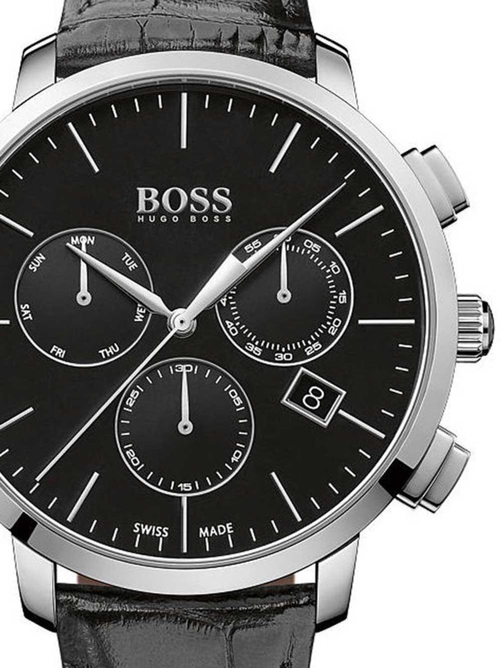 ceas barbatesc hugo boss 1513266 swiss-made chrono 44mm 3atm saphir