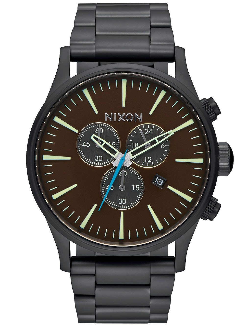 ceas barbatesc nixon a386-2209 sentry chrono 42mm 10atm