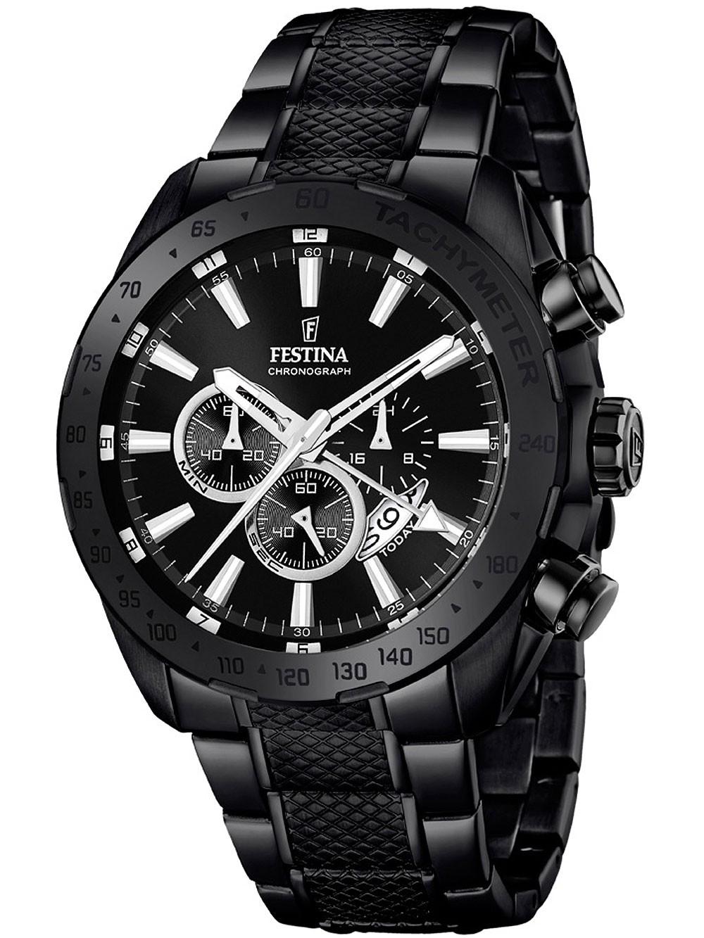 ceas barbatesc festina f16889/1 dual-time cronograf 44mm 10atm