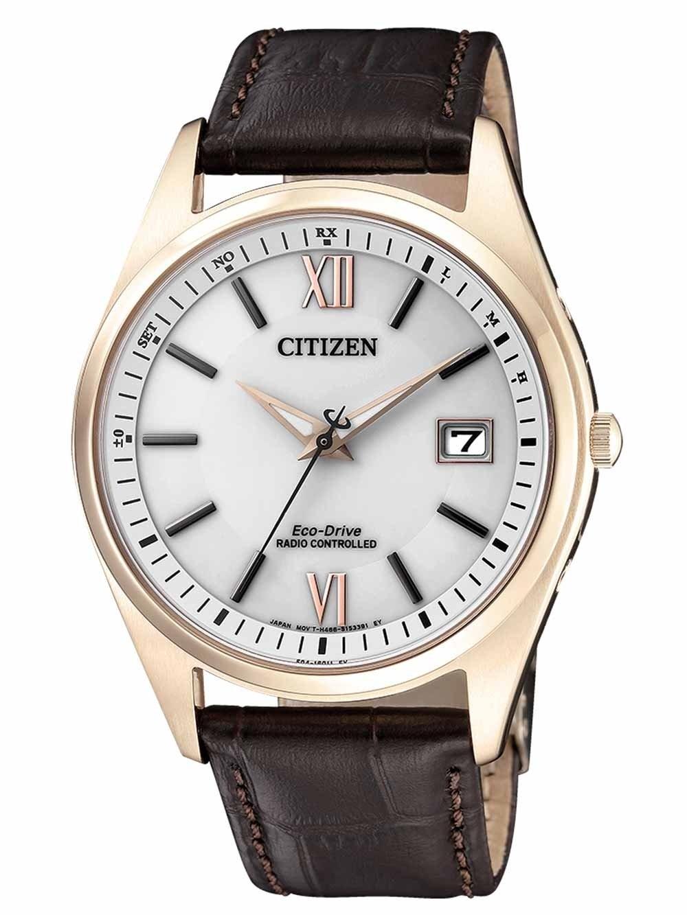 ceas barbatesc citizen as2053-11a eco-drive radio controlat 39mm 10atm