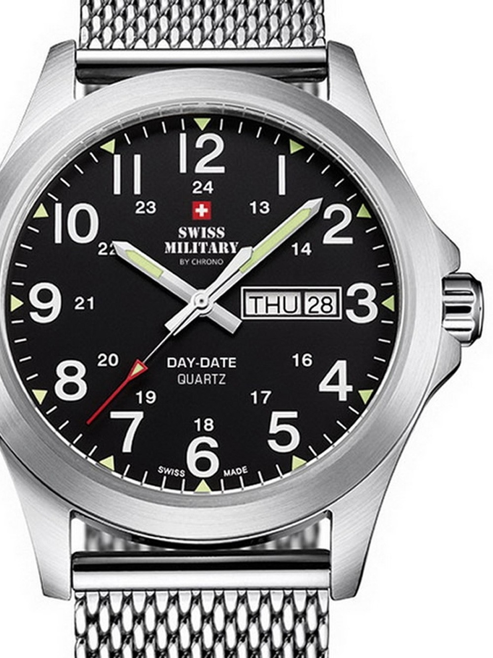 ceas barbatesc swiss military smp36040.13 42mm 5atm title=ceas barbatesc swiss military smp36040.13 42mm 5atm