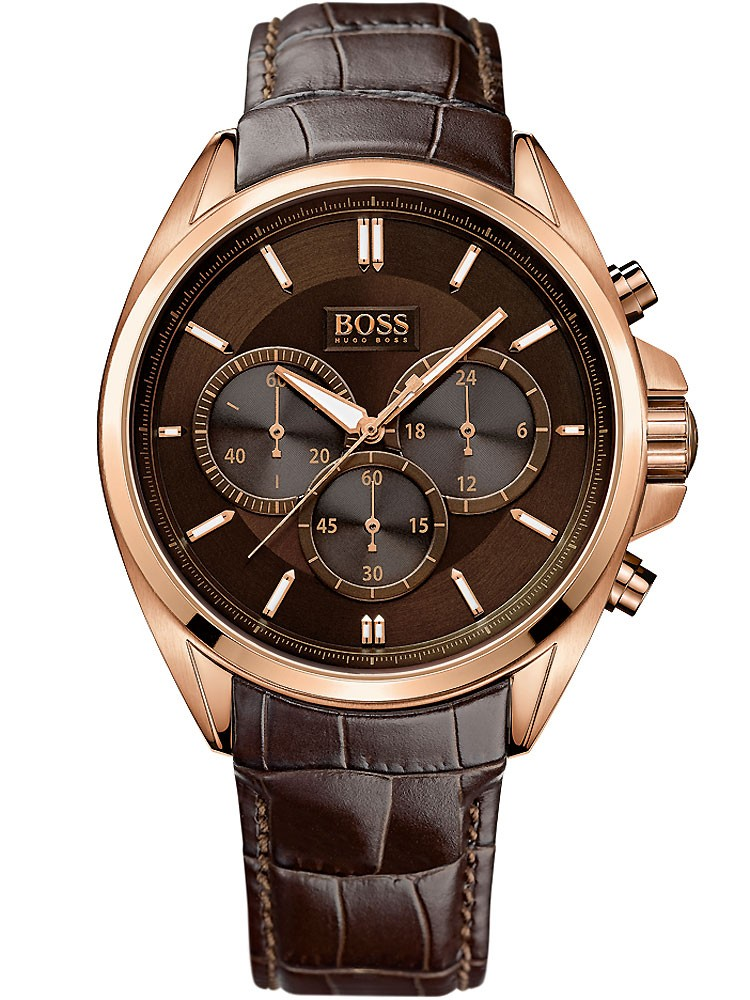ceas barbatesc boss black driver chrono 1513036 44mm 5atm