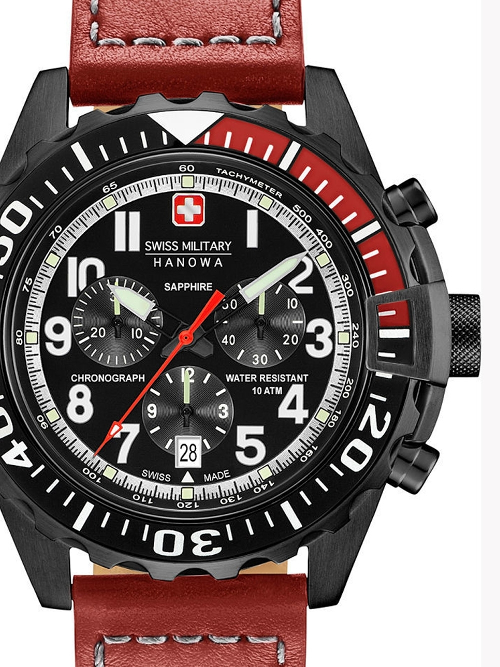 Ceas barbatesc Swiss Military Hanowa 06-4304.13.007 Touchdown Chrono 45mm 10ATM