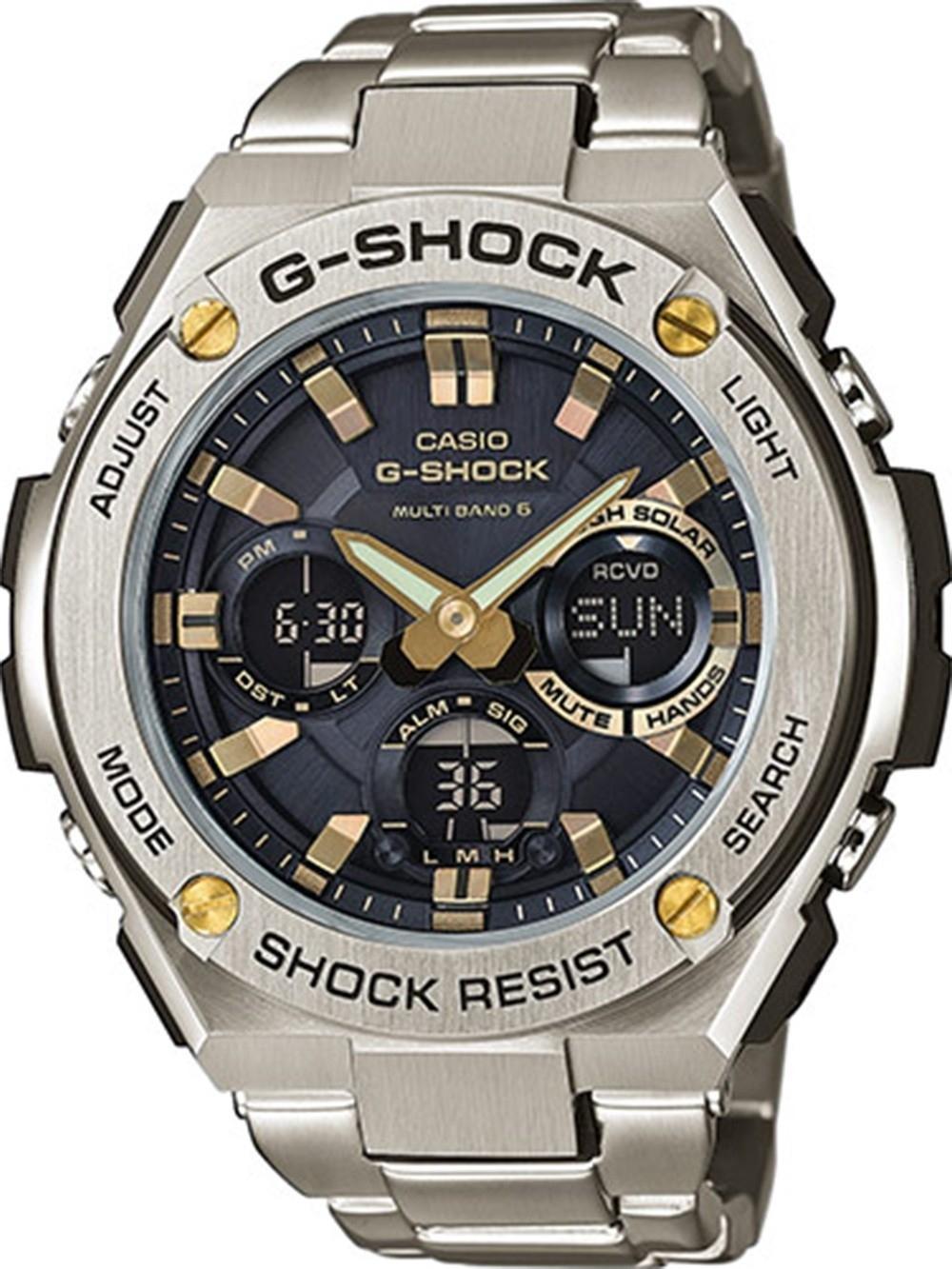 ceas barbatesc casio gstw110d-1a9er g-shock solar 53mm 20atm