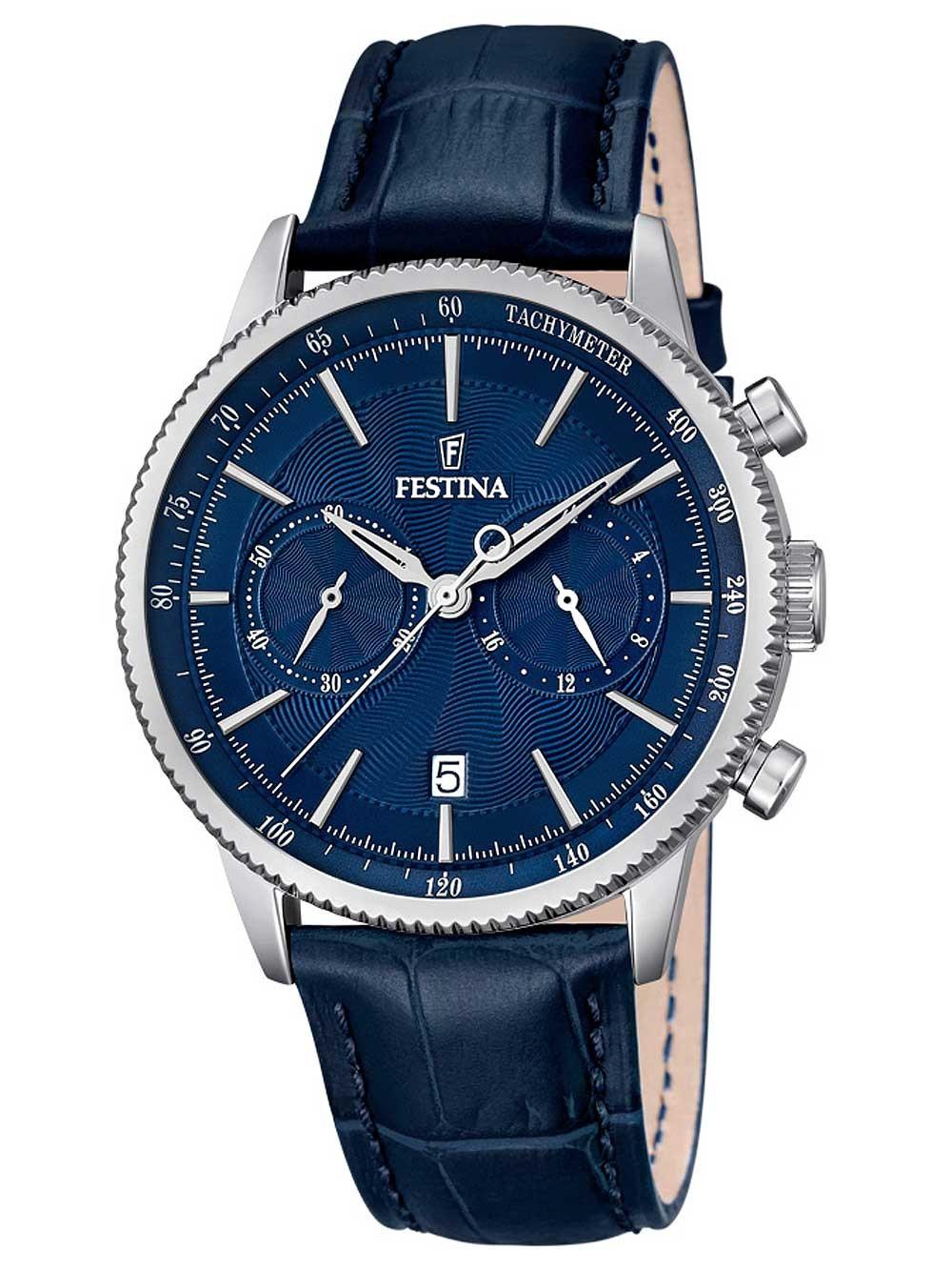ceas barbatesc festina f16893/2 cronograf 41mm 5atm