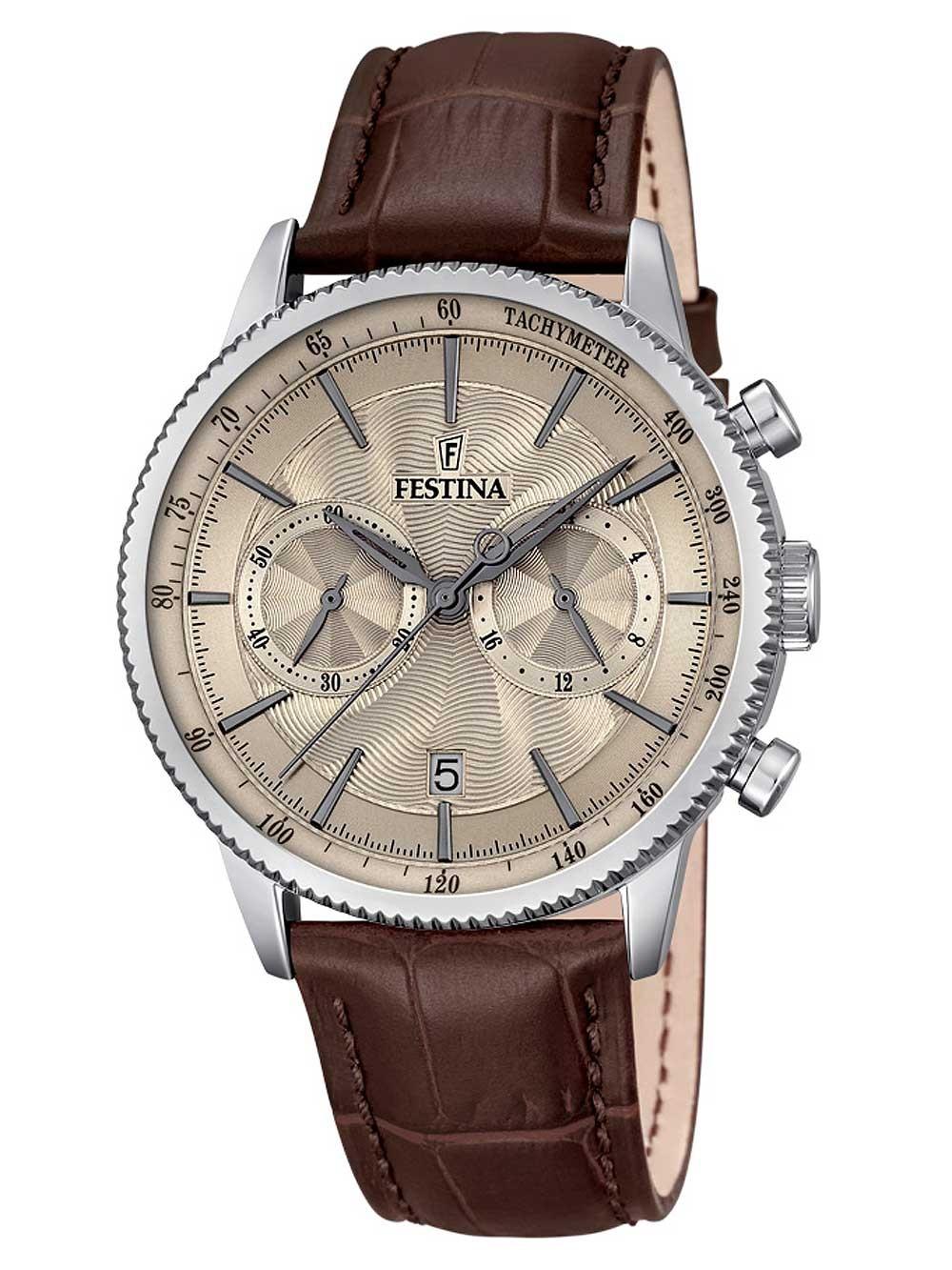 ceas barbatesc festina f16893/3 cronograf 41mm 5atm