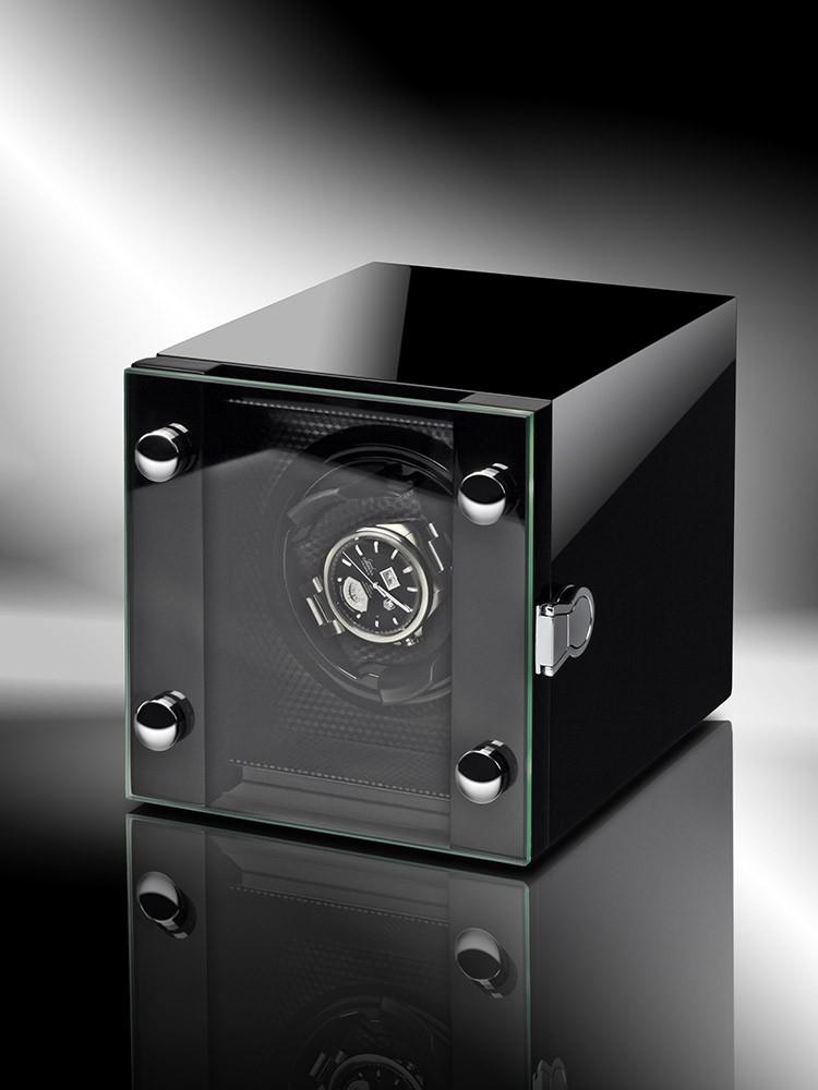 uhren chrono12 rothenschild uhrenbeweger chicago rs 2099 bk fuer 1 uhr. Black Bedroom Furniture Sets. Home Design Ideas