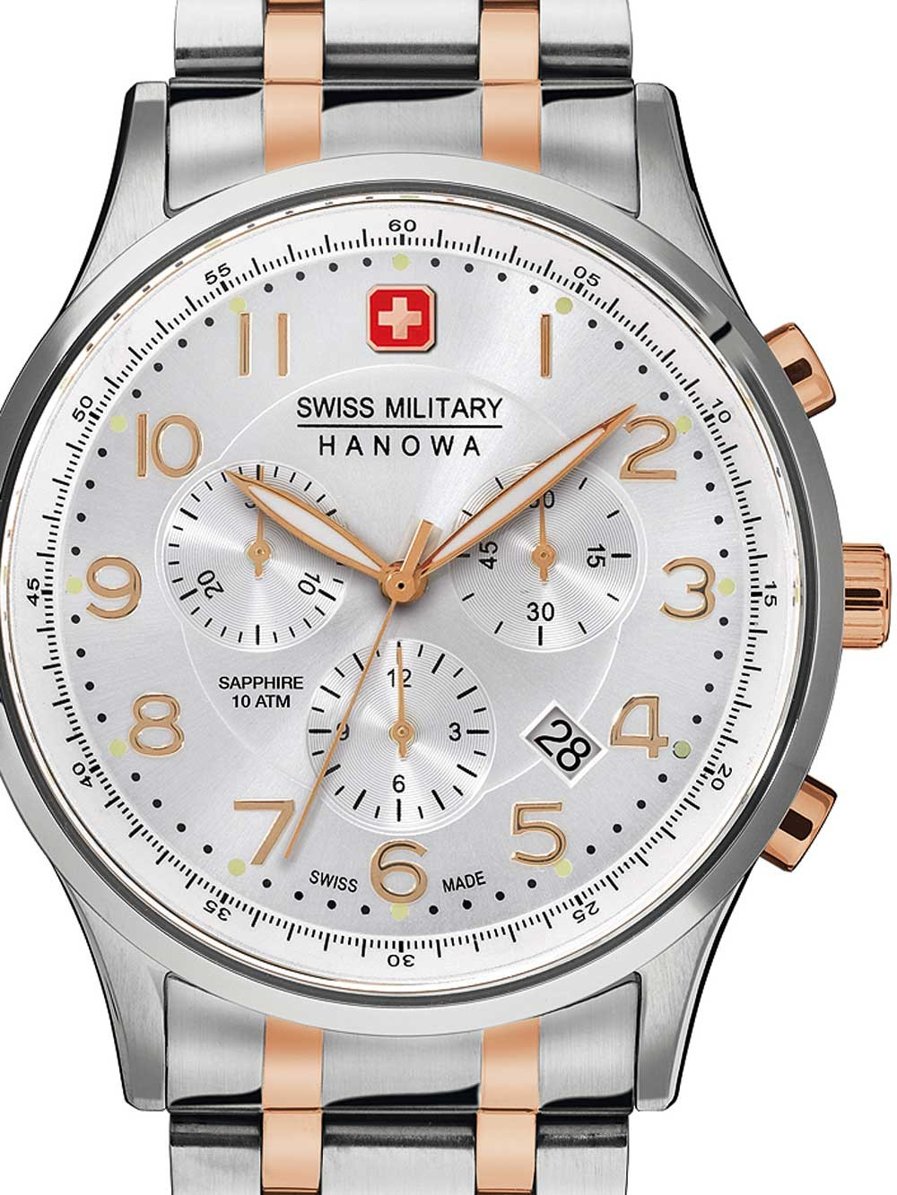 ceas barbatesc swiss military hanowa 06-5187.12.001 patriot 43mm 10atm